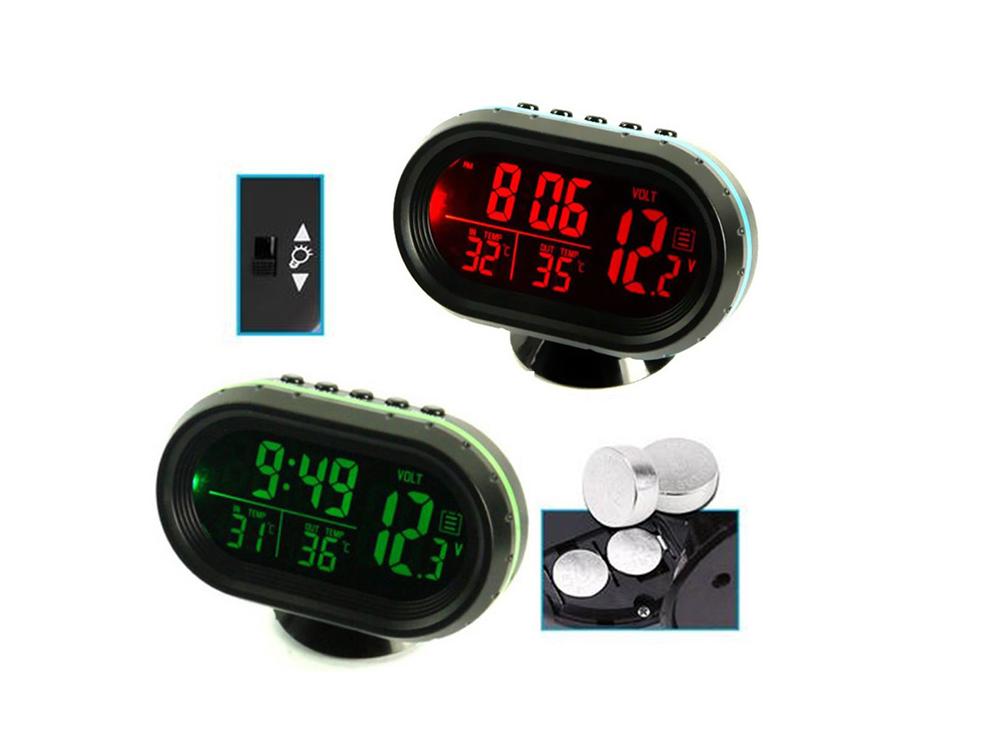 Часы термометр вольтметр 105